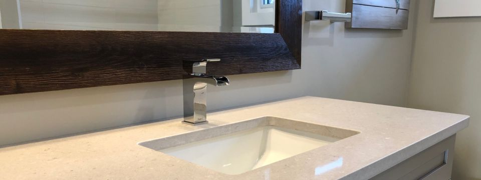 installed bathroom faucet