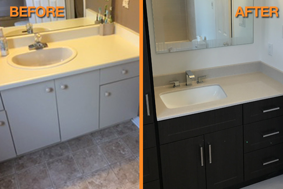 Bathroom vanity | Before and after
